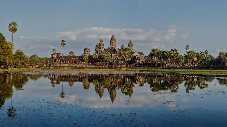 Angor Wat with water in front