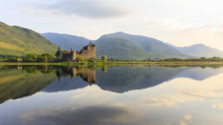 Kilchurn Castle in Scottish Highlands